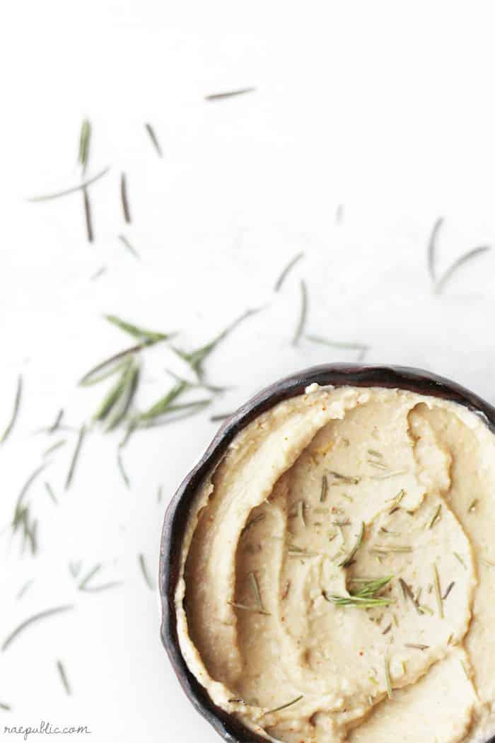 Homemade Rosemary Hummus
