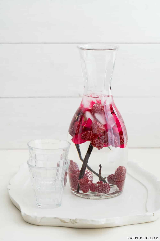 Vanilla Bean Rose Infused Water