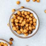 Bowl of cheesy roasted chickpeas.